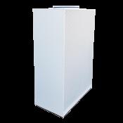 NW-4p 1250x630 / H=1800 / podejście górne fi500 / RAL9010 / stal ocynkowana / wersja stojąca