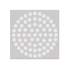 NWK-5 67sztuk małych dyszek w kolorze białym, w układzie okrągłym, płyta stal lakierowana proszkowo