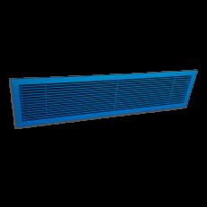 Krata ALWP-1z rama z zetownika / 900x180 / RAL 5001 / aluminium / otwory w ramce do montażu / cel zamówienia: montaż w parapetach nad grzejnikami