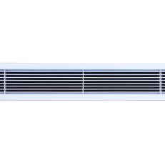 Krata ALWP-1 / ramka 25mm / 815x115 / RAL 9016 / aluminium / montaż na zatrzask w dodatkowej ramce montażowej / cel zamówienia: kratki na klimakonwektory w pokojach hotelowych