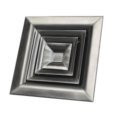 Anemostat 4-drożny AN-2 / 301x301 / stal kwasoodporna / ramka standard