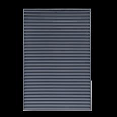 Czerpnia ścienna CzS-A (rama typ R2) / 1600x2100 / RAL 7016 / aluminium / bez siatki / moduł ściany lamelowej do osłony urządzeń na dachu