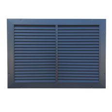 Kratka KSL / 700x500 (wymiar otworu montażowego LxH) / RAL 7016 / stal ocynkowana / ramka 50mm / dzielenie wewnętrzne lamel we wspólnej ramie