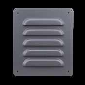 Kratka tłoczona KT-1 100x120 RAL7024 stal ocynkowana, krata z płaską ramką, zaokrąglone naroża / Pressed grille KT-1 100x120 coated powder RAL 7024, galvanized steel, without tap, frame flat, rounded corners.
