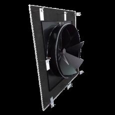 Nawiewnik / wywiewnik NWE-1 - montaż niewidoczny na konstrukcji sufitu podwieszanego z dodatkowymi zaczepami do mocowania płyty czołowej