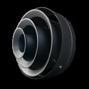 NWO-10 / fi400 / RAL9005 / OC - funkcja rozproszonego strumienia powietrza