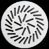 Nawiewnik okrągły NWO-3 fi 600/32 stal lakierowana proszkowo RAL9016, bez kierownic, mocowanie centralne