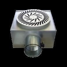 Nawiewnik wirowy NWO-3 / fi600 / 48 kierownic / RAL9016 / stal ocynkowana + skrzynka izolowana z przepustnicą SR-B/Iw/P fi200 / mocowanie centralne