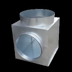 Skrzynka rozprężna z dwoma króćcami do NWO fi630 z podejściem bocznym fi500 H=700