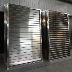 Żaluzja ZSR / 1450x2260 / aluminium / regulacja RS / ramka 50mm / lamele 100mm / głębokość 150mm