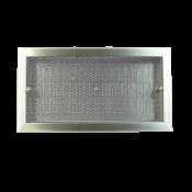 Kratka higieniczna KLH / 400x200 (LxH) / stal nierdzewna kwasoodporna / wykonanie standardowe z przepustnicą szczelinową
