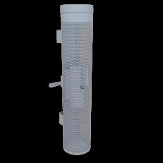 Nawiewnik wyporowy NWJ-P / fi250 / H=1000 / RAL 9006 / stal ocynkowana / wersja wisząca przyścienna / regulacja ręczna