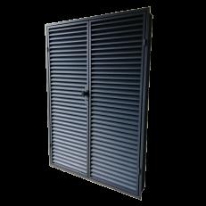 Drzwi do systemowych ścian lamelowych z żaluzją CzS-A